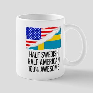 Half Swedish Half American Awesome Mugs