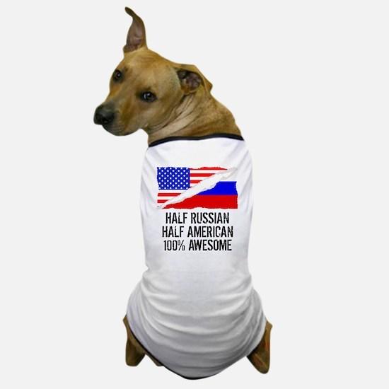 Half Russian Half American Awesome Dog T-Shirt