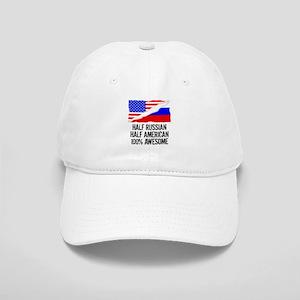 Half Russian Half American Awesome Baseball Cap