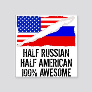 Half Russian Half American Awesome Sticker