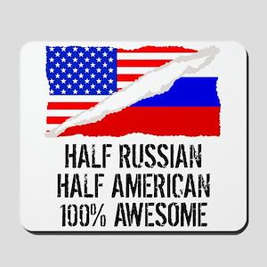 Half Russian Half American Awesome Mousepad