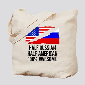 Half Russian Half American Awesome Tote Bag