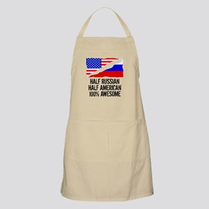Half Russian Half American Awesome Apron