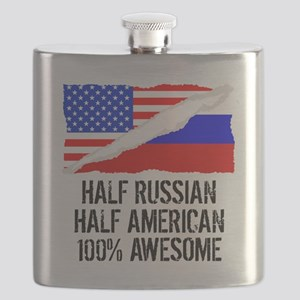 Half Russian Half American Awesome Flask