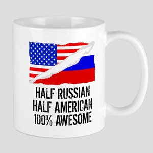 Half Russian Half American Awesome Mugs