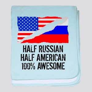Half Russian Half American Awesome baby blanket