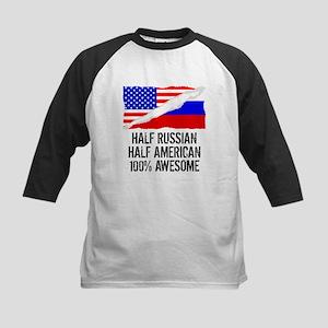 Half Russian Half American Awesome Baseball Jersey