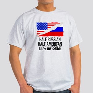 Half Russian Half American Awesome T-Shirt