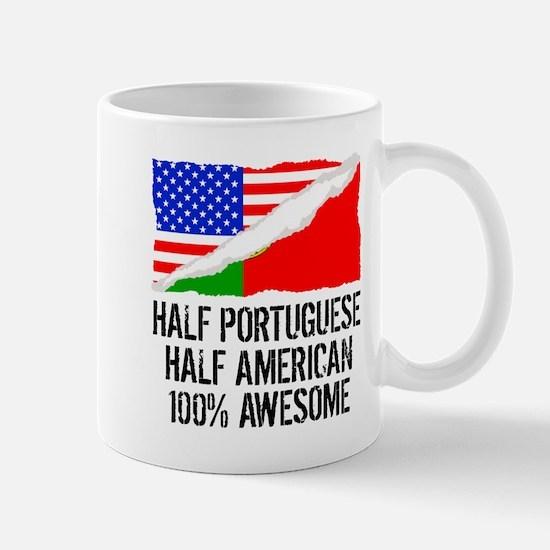 Half Portuguese Half American Awesome Mugs