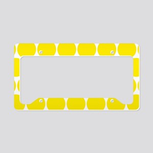 Retro Yellow Polka Dots Patte License Plate Holder