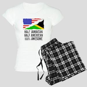 Half Jamaican Half American Awesome Pajamas