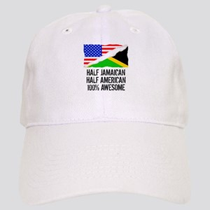 Half Jamaican Half American Awesome Baseball Cap