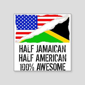 Half Jamaican Half American Awesome Sticker