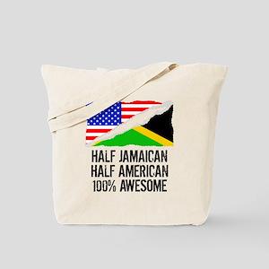Half Jamaican Half American Awesome Tote Bag