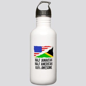 Half Jamaican Half American Awesome Water Bottle