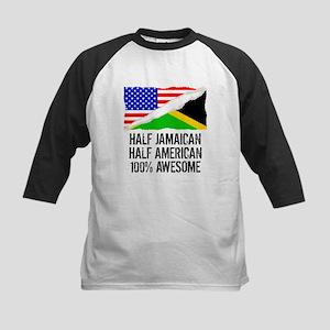 Half Jamaican Half American Awesome Baseball Jerse