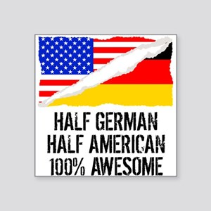 Half German Half American Awesome Sticker