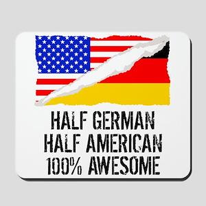 Half German Half American Awesome Mousepad