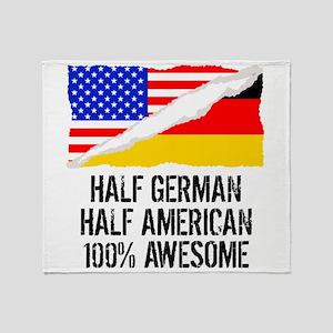 Half German Half American Awesome Throw Blanket