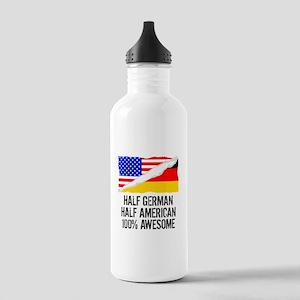 Half German Half American Awesome Water Bottle