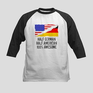 Half German Half American Awesome Baseball Jersey