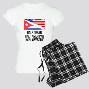 Half Cuban Half American Awesome Pajamas