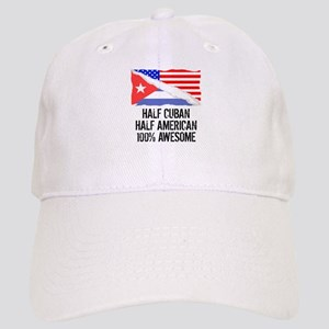 Half Cuban Half American Awesome Baseball Cap