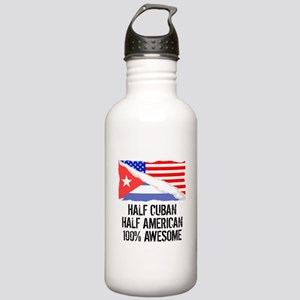 Half Cuban Half American Awesome Water Bottle