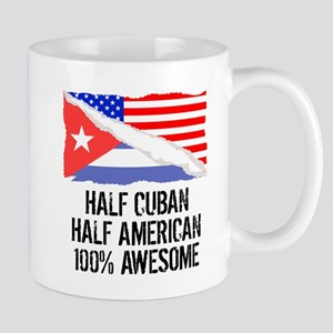 Half Cuban Half American Awesome Mugs