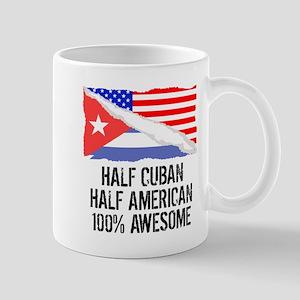 Half Cuban Half American Awesome Mugs