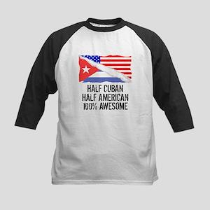 Half Cuban Half American Awesome Baseball Jersey