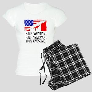 Half Canadian Half American Awesome Pajamas