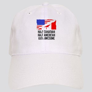 Half Canadian Half American Awesome Baseball Cap