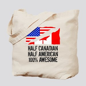 Half Canadian Half American Awesome Tote Bag