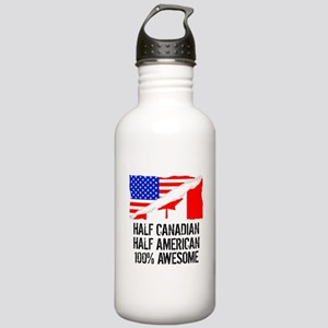 Half Canadian Half American Awesome Water Bottle