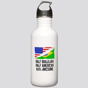 Half Brazilian Half American Awesome Water Bottle