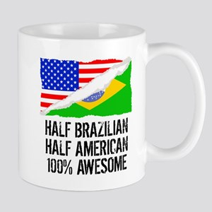 Half Brazilian Half American Awesome Mugs