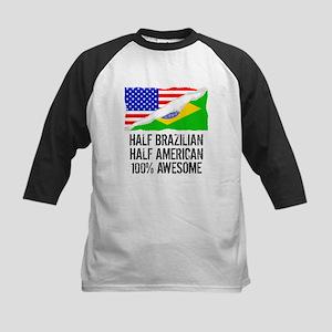 Half Brazilian Half American Awesome Baseball Jers