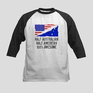 Half Australian Half American Awesome Baseball Jer