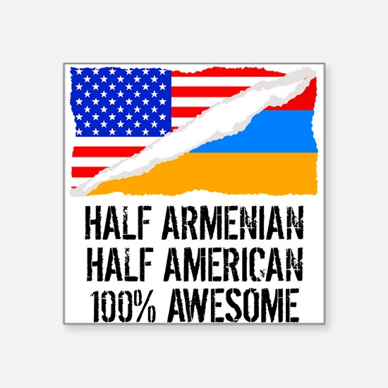 Half Armenian Half American Awesome Sticker