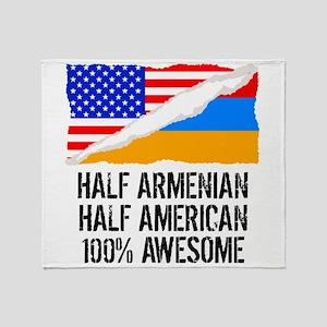 Half Armenian Half American Awesome Throw Blanket