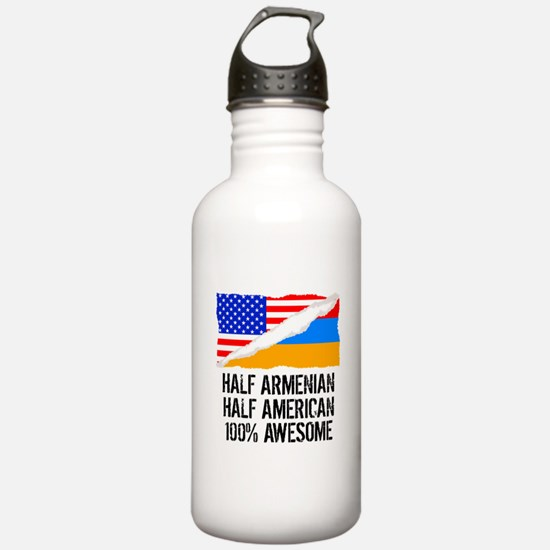 Half Armenian Half American Awesome Water Bottle