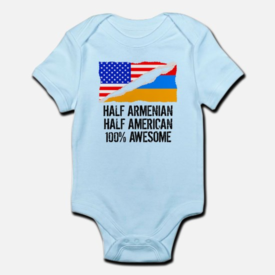 Half Armenian Half American Awesome Body Suit