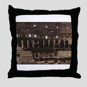 old coliseum ruins Throw Pillow