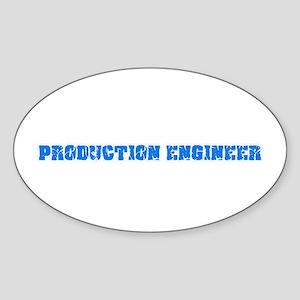 Production Engineer Blue Bold Design Sticker