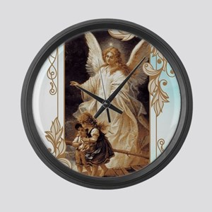 Angel of God (Day) Large Wall Clock