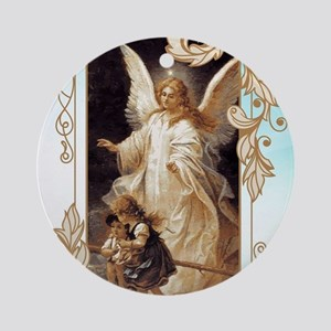 Angel of God (Day) Round Ornament