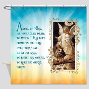 Angel of God (Day) Shower Curtain