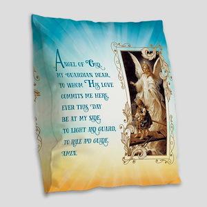 Angel of God (Day) Burlap Throw Pillow