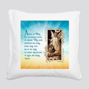 Angel of God (Day) Square Canvas Pillow
